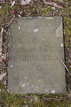 Infant Son of William and Mary McGhlin, Died Apr 21 1842