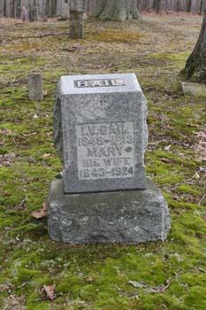 I.V. Bail 1848-1913, Mary Bail 1843-1924