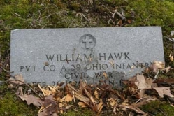 William Hawk PVT CO A 39 Ohio Infantry, Civil War