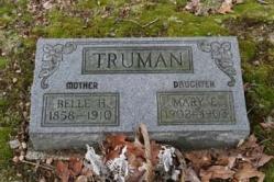 Belle H. 1858-1910, Mary E. Truman 1902-1903