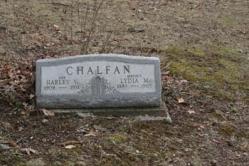 Harley V. Chalfan 1909-1931, Lydia M. Chalfan 1883-1965