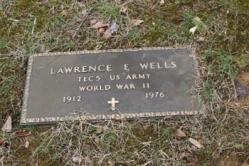 Lawrence E Wells TEC 5 US ARMY WORLD WAR II 1912-1976