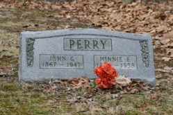 John G. Perry 1867-1947, Minnie E. Perry d-1958
