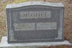 Charley W. McGhee 1872-1957, Anna E. McGhee 1878-1946