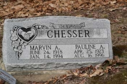 Marvin A Chesser 1918-1994, Pauline A. Chesser 1923-1996