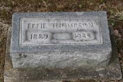 Effie Thompson 1889-1933