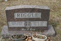 Paul David Riggle b-1927, Donna Lou Riggle 1931-1997