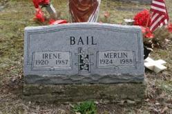 Irene Bail 1920-1987, Merlin Bail 1924-1988