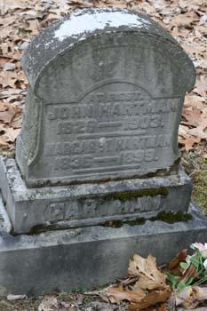 John Hartman 1826-1903, Margaret Hartman 1836-1899