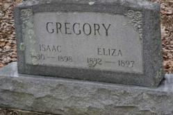 Isaac Gregory 1830-1898, Eliza Gregory 1832-1897