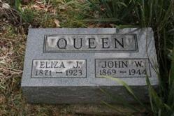 Eliza J. Queen 1871-1923, John W. Queen 1869-1944
