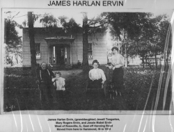James Harlan and family in Rossville, Illinois