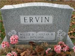 Walter D. and Algean M. ERVIN