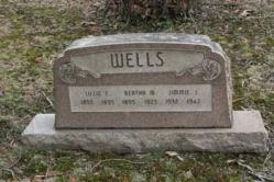 Lillie 1893-1895, Bertha M. 1895-1923, Jimmie J. 1932-1942, WELLS